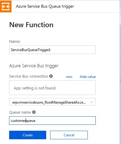 Setting Queue name in Azure Service Bus Triggered Azure Function
